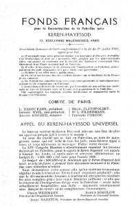 AUJF Keren Hayessod France